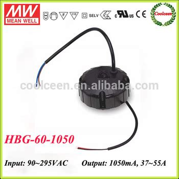 Power Supply Well Led Driver Hbg 100p meanwell hbg 60 1050 shape constant current led driver 1050ma buy led driver 1050ma