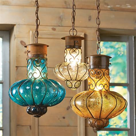 mexican pendant light southwestern flower glass pendant lights