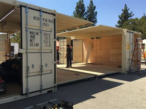 Construire Un Carport Pour Cing Car by Garage Shipping Container Container Conversions Shipping