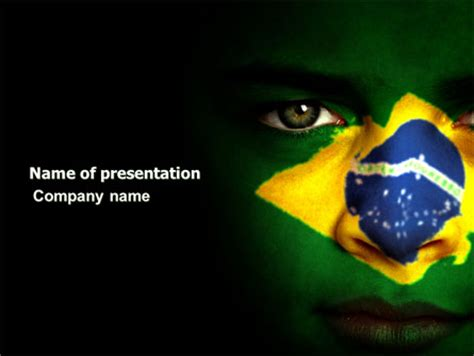 powerpoint 2010 themes brazil face of brazil presentation template for powerpoint and