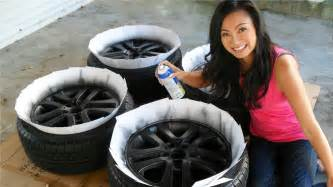 Painting Truck Wheels Black How To Plasti Dip Car Rims Matte Black Wheels