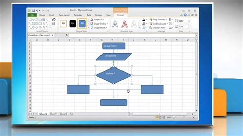 how to create flowchart in excel how to make a flow chart in excel 2010