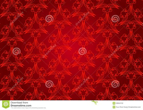 abstract pattern red seamless abstract floral pattern background red stock