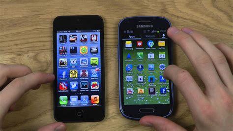 iphone 5 vs galaxy s3 mini