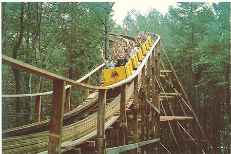 parks in richmond va dominion grizzly roller coaster amusement park postcard richmond va theme park