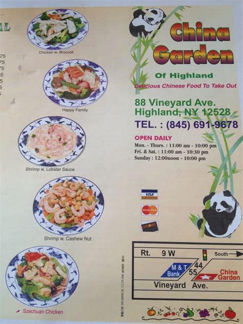 China Garden Highland Ny by China Garden Restaurant Kinamat 88 Vineyard