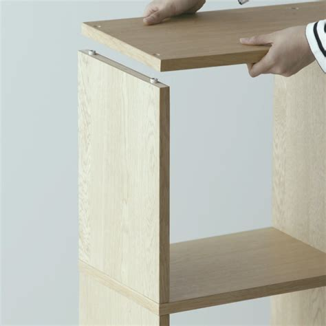 Shelf Stacking by The Great Advantage Of Muji Stacking Shelves Is That They
