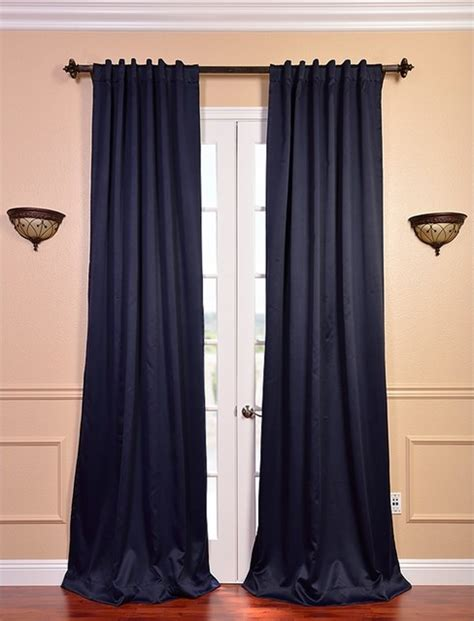 Blackout Navy Curtains Eclipse Navy Blue Thermal Blackout 120 Inch Curtain Panel Pair Contemporary Curtains By