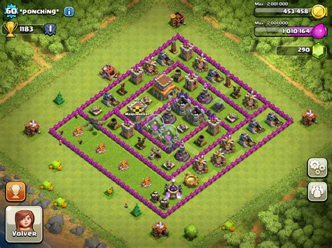 clash of clans ayuntamiento de aldea 8 ponching clan maquinorras