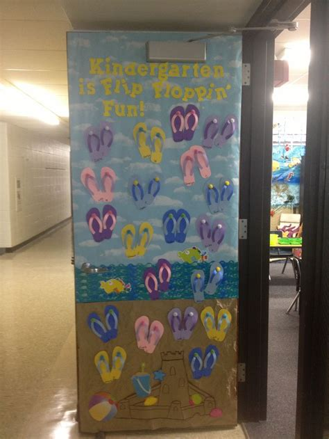 Kindergarten Classroom Decorating Themes - beach theme door decoration holiday decorations pinterest