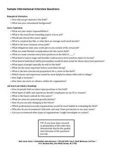 Informational Interview Report Sample Informational Interviews