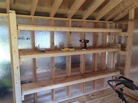 diy storage shelving   shed shed shelving