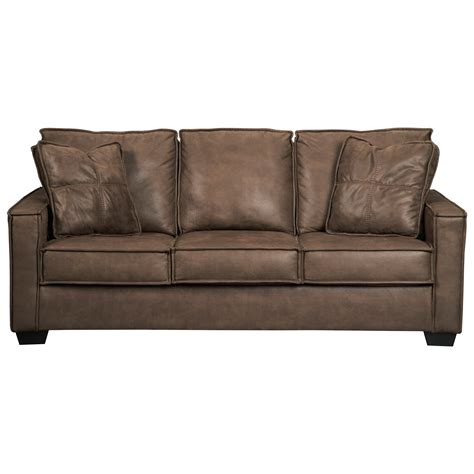 signature ashley sofa signature design by ashley terrington faux leather sofa