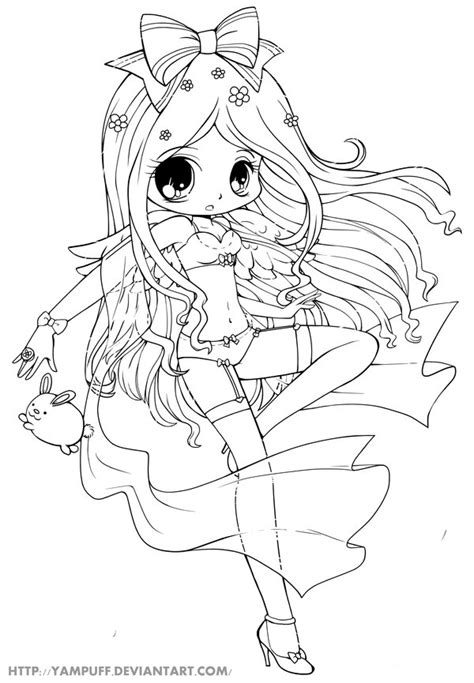 anime angel girl coloring pages naughty angel lineart by yampuff on deviantart