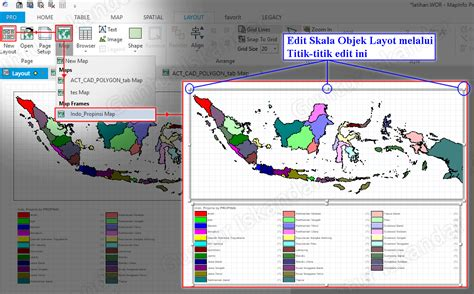 contoh layout peta tematik tutorial teknologi geografi dan informasi