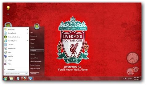 themes liverpool for windows 7 liverpool fc windows 7 theme