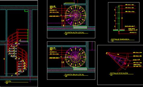 spiral staircase dwg detail for autocad designs cad