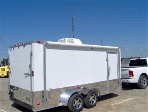 enclosed trailer awnings 7x16 enclosed motorcycle cargo trailer a c unit awning white race trailer new ebay