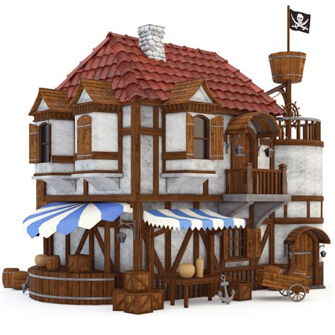 the pirates house pirate house 3d model
