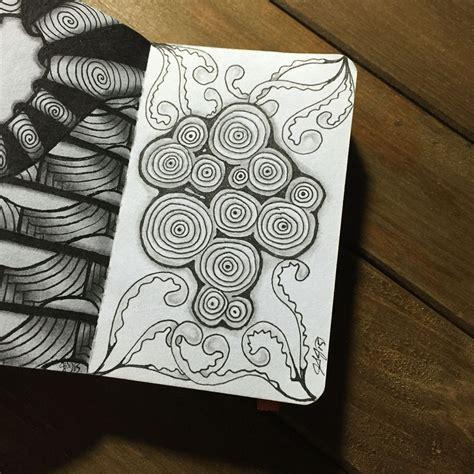 Zentangle Pattern Sez   zentangle journal tangle patterns sez and fern