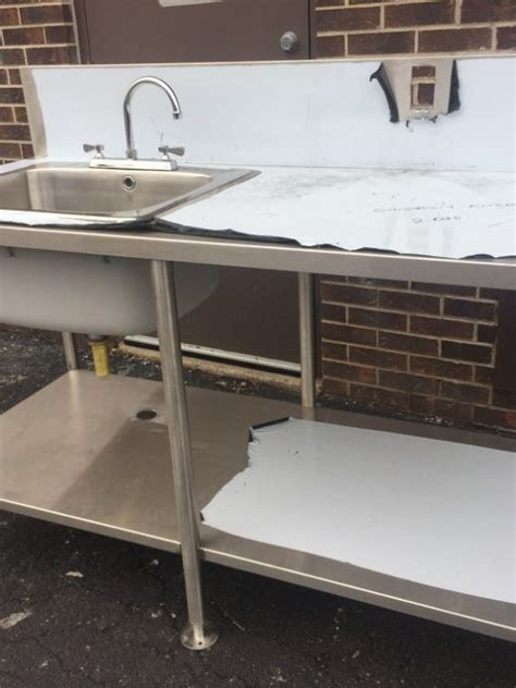 used stainless steel table with sink stainless steel table with sink and cutting board mb
