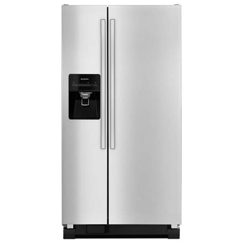 amana 21 2 cu ft side by side refrigerator in stainless