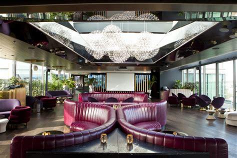 Wood Dining Room by Bespoke Restaurant Seating Mondrian London At Sea