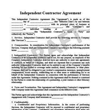 Create An Independent Contractor Agreement Legaltemplates Independent Consultant Contract Template