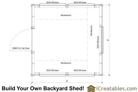 Greenhouse Floor Plan by 8x8 Greenhouse Shed Plans Storage Shed Plans Icreatables