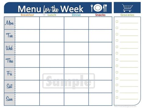 Weekly Food Calendar printable weekly dinner menu weekly meal planner