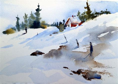 watercolor tutorial winter watercolor snow scenes of the fall quarter i brought