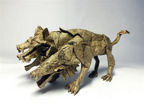 Origami Cerberus - mythology brought to through some