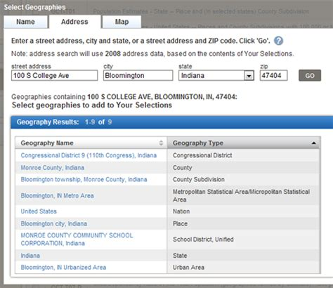 Records By Address Sle Screenshot