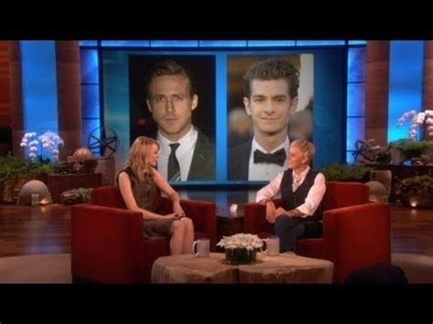 emma stone ryan gosling interview emma stone kissing ryan gosling and andrew garfield