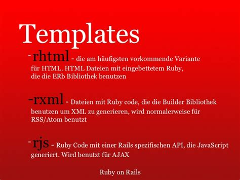 ruby on rails templates ruby on rails einf 252 hrung