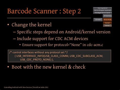 android kernel version extending android with new devices