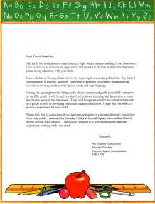 parent letter template student letters to parents new calendar template