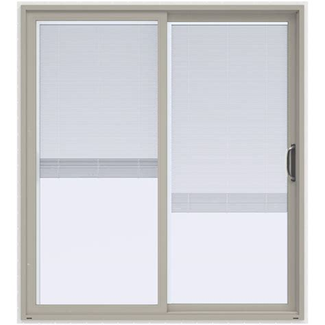 Patio Doors Blinds Inside Jeld Wen 72 In X 80 In V 4500 Desert Sand Prehung Right Sliding Vinyl Patio Door With