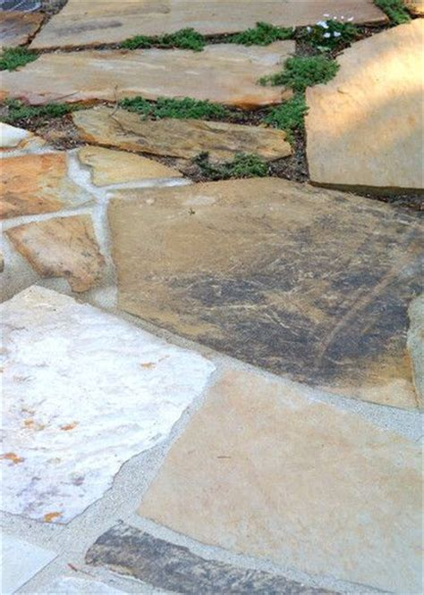 flagstone can be mortared or laid for various uses and