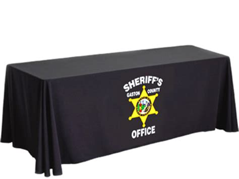 table clothes table skirts with logo imprinted