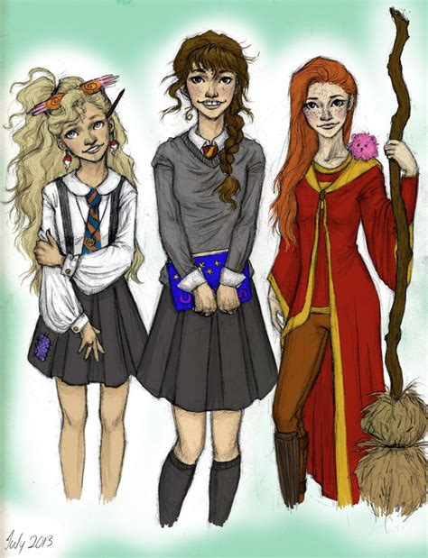 hermione granger ginny weasley hermione and ginny harry potter by