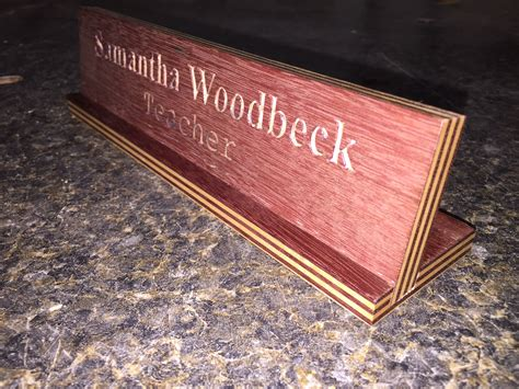 unique desk name plates engraved desk name plate woodwork by woodbeck