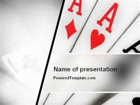 Playing Cards Powerpoint Template By Poweredtemplate Com Youtube Card Powerpoint Template