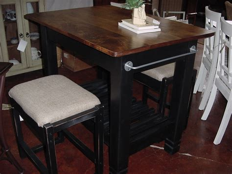 Island Tables For Kitchen With Chairs 30 X 42 Maple Top Kitchen Island Table With Burlap Topped Stools Just Tables