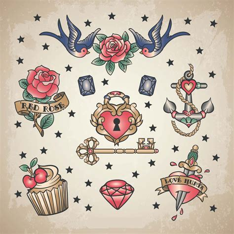 vintage heart tattoo designs vintage