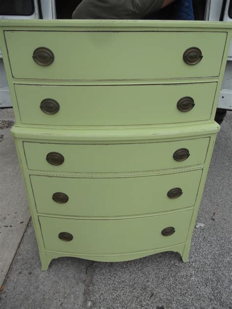 Distressed Green Dresser by Lightly Distressed Green Dresser Duncan Phyfe
