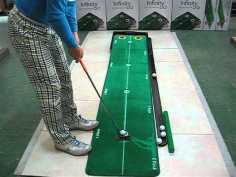 putting matte infinity putting mat how it works
