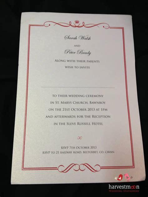 harvest moon wedding invitations wedding stationery harvest moon print design