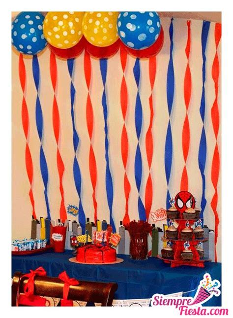 imagenes cumpleaños hombre araña mejores 29 im 225 genes de fiesta de spiderman hombre ara 241 a en