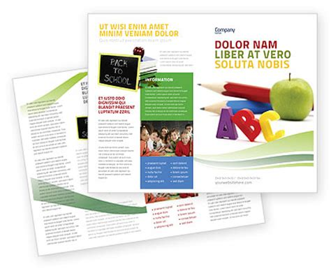 start education brochure template design and layout
